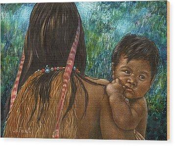 Jungle Family Wood Print by Sandra LaFaut