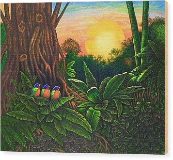 Jungle Harmony IIi Wood Print