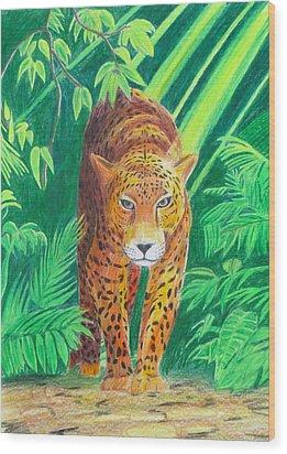 Jungle Leopard Wood Print