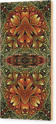 Jungle Love Wood Print by Lea Wiggins