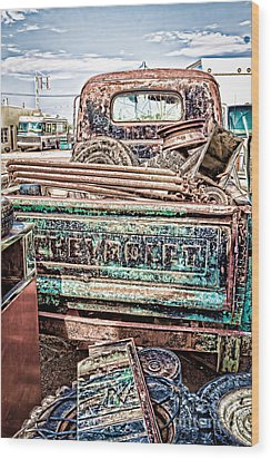 Junk Or Treasure Wood Print by Lawrence Burry
