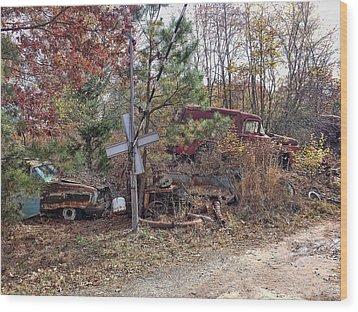 Junk Road Wood Print