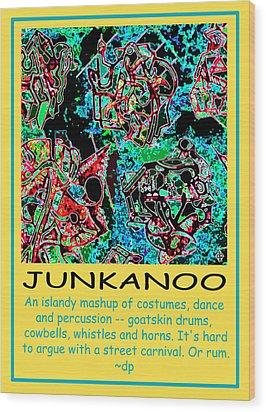 Junkanoo Poster Wood Print