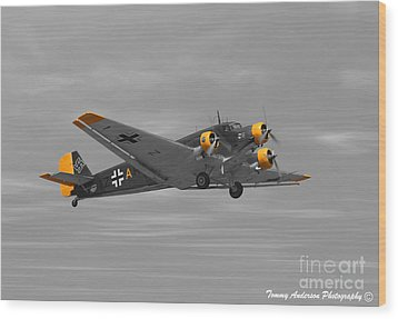 Junkers Ju 52 Wood Print by Tommy Anderson