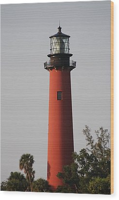 Jupiter Lighthouse Wood Print by George Mount