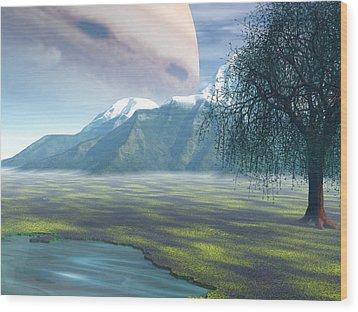 Jupiter Rising Wood Print by Michele Wilson