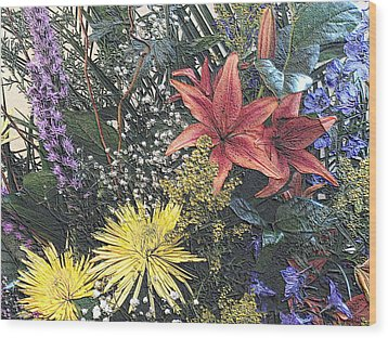 Wood Print featuring the photograph Just A Boquet by Scott Kingery