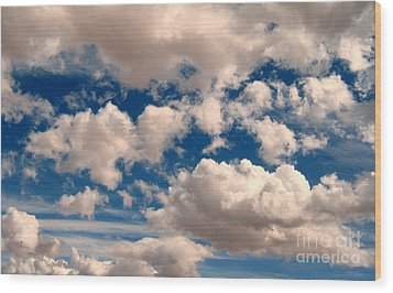 Wood Print featuring the photograph Just A Face In The Clouds by Janice Westerberg