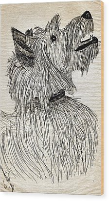 Just A Happy Fellow Wood Print by Joy Reese