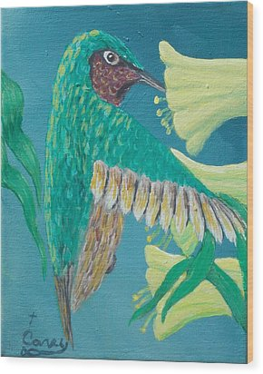Just A Hummingbird Wood Print