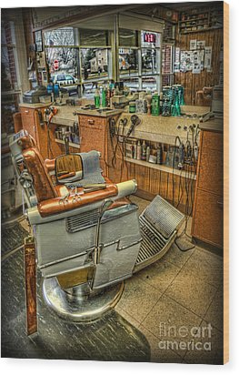 Wood Print featuring the photograph Just A Little Off The Top - Barber Shop by Lee Dos Santos