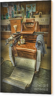 Wood Print featuring the photograph Just A Little Off The Top II - Barber Shop by Lee Dos Santos