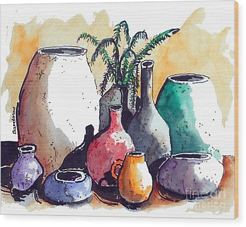 Just A Simple Still Life Wood Print by Terry Banderas