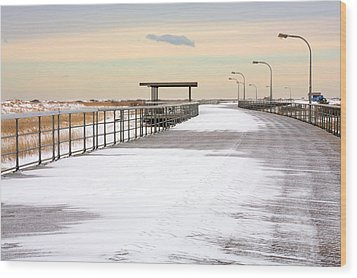 Just Another Boardwalk Wood Print by JC Findley