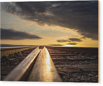 Just Before Sunrise Wood Print by Bob Orsillo
