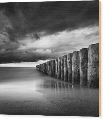 Just Before The Storm Wood Print by Martin Flis