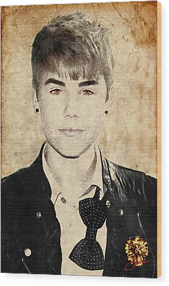 Just Bieber Wood Print by Dancin Artworks