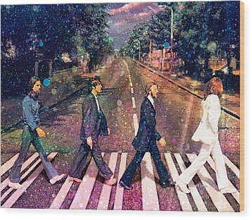 Just Crossing The Street Wood Print by Angela A Stanton