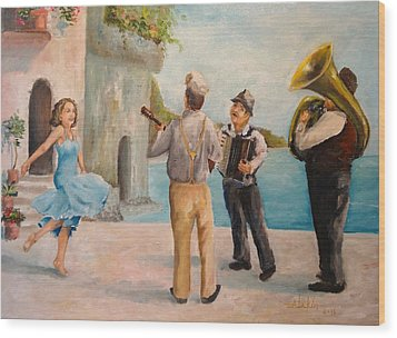 Just Dance Wood Print by Alan Lakin