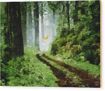 Just Follow Me Wood Print