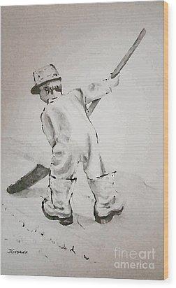 Just Like Dad Wood Print by Joyce Gebauer