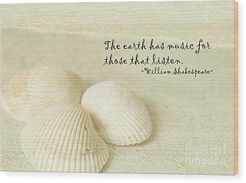 Just Listen Wood Print