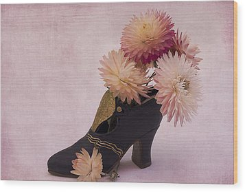 Wood Print featuring the photograph Just One Shoe by Sandra Foster