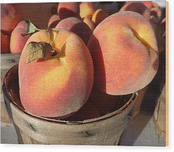 Just Peachy Wood Print by Joseph Skompski