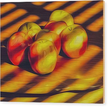 Just Ripe Enough Wood Print by Nancy Marie Ricketts