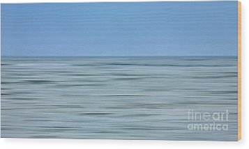 Just Sky Just Water - A Tranquil Moments Landscape Wood Print by Dan Carmichael