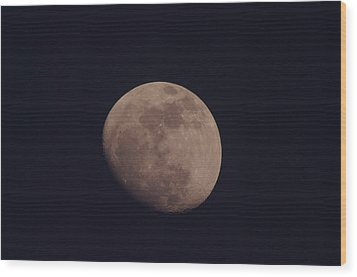 Just The Moon Wood Print by Jeff Swan