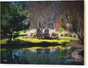 Wood Print featuring the photograph Just The Two Of Us by Geri Glavis