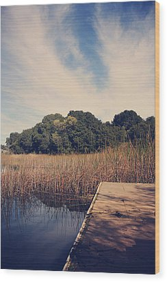 Just To Make This Dock My Home Wood Print by Laurie Search