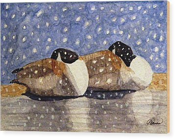 Just We Two Wood Print by Angela Davies