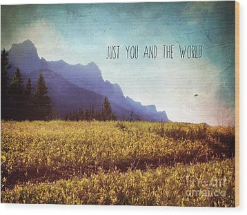 Wood Print featuring the photograph Just You And The World by Sylvia Cook