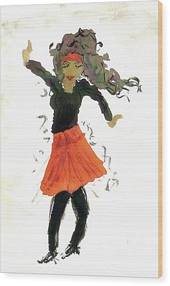 Just Zumba Wood Print by Lesley Fletcher