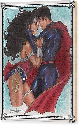Justice League Wood Print