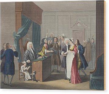 Justice Triumphs, Illustration Wood Print by William Hogarth