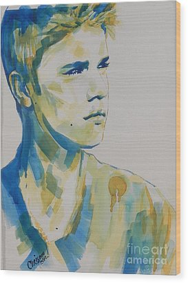 Justin Bieber Wood Print