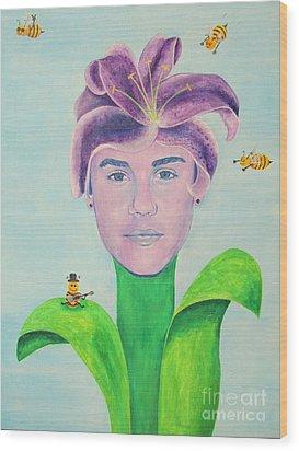 Justin Bieber Painting Wood Print