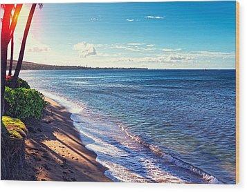 Kaanapali Beach Wood Print by Lars Lentz