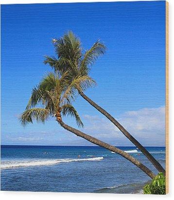 Kaanapali Hawaii Wood Print by DJ Florek