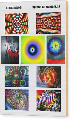 Kabbalah Mandala Poster Wood Print