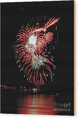 Wood Print featuring the photograph Kaboom by Chris Anderson