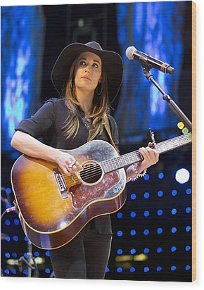 Wood Print featuring the photograph Kacey Musgraves by Shawn Everhart
