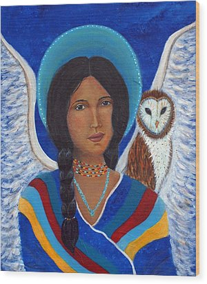 Kachina A Hopi Earthangel Wood Print by The Art With A Heart By Charlotte Phillips