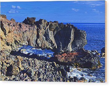 Wood Print featuring the photograph Kaena Point Rock Arch by Aloha Art