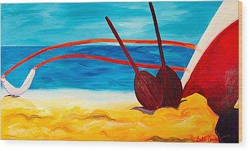 Kaeti's Canoe Wood Print by Beth Cooper