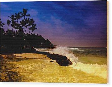 Kailua Bay Wood Print by Randy Sylvia