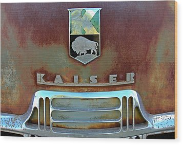 Kaiser Vintage Grill Wood Print by Tony Grider